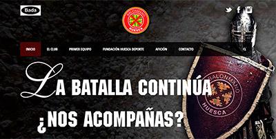 P�gina web Club Balonmano Huesca